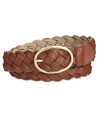 Style & Co Triple Braid Woven Belt M