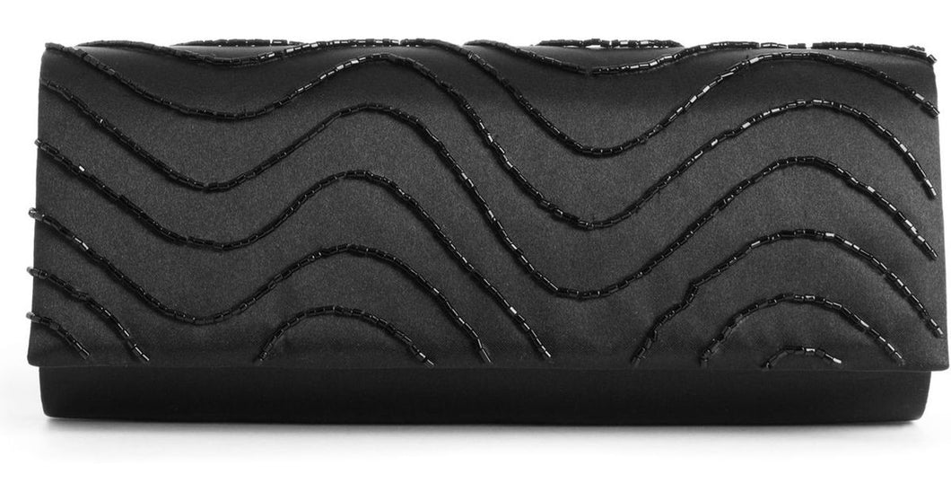 Style & co. Susi Satin Evening Bag Black