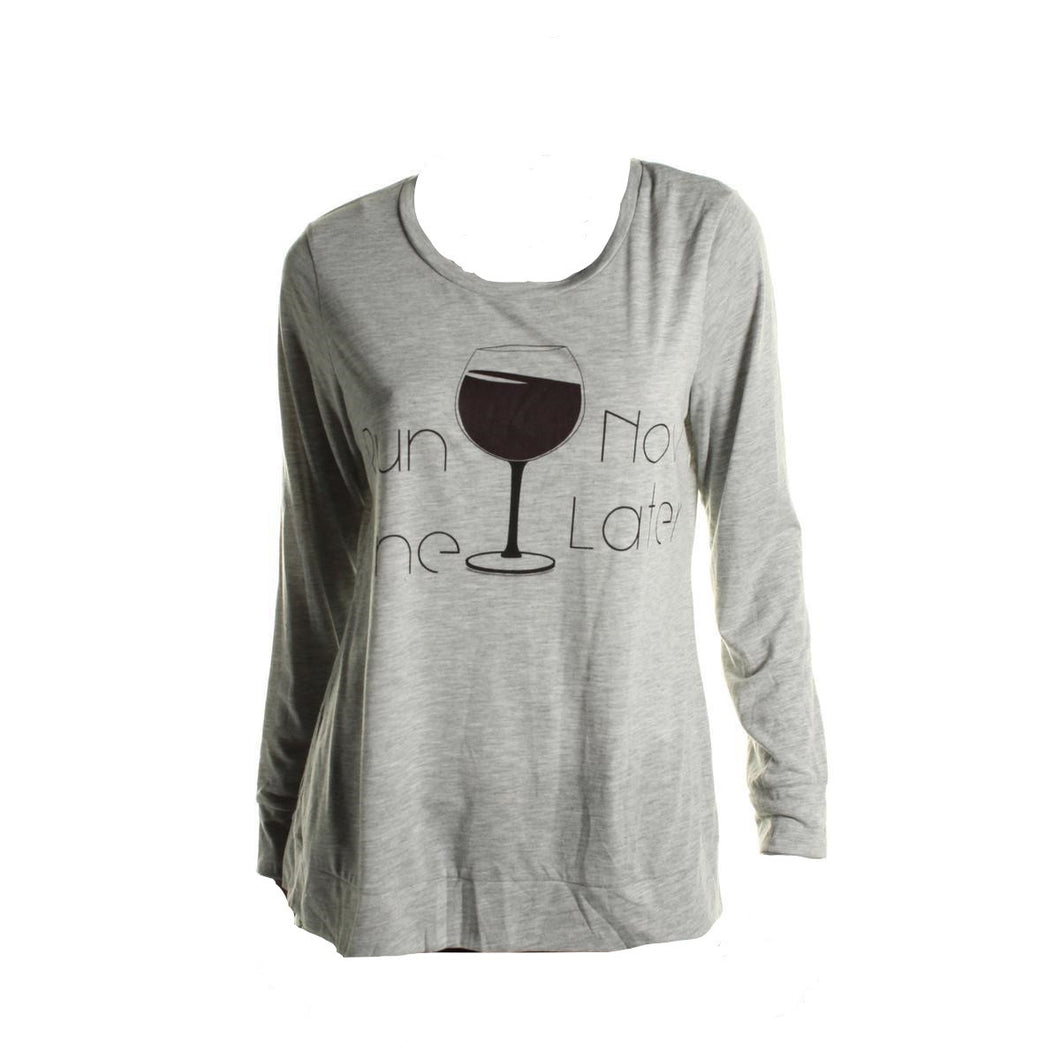 Style & Co. Sport Wine Lover Graphic Tee Medium