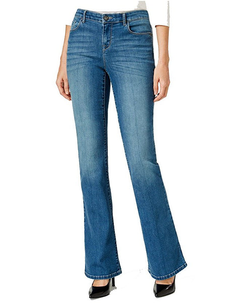 Style & Co. Womens Plus Size Low Rise Rayon Denim Flare Jeans 16S