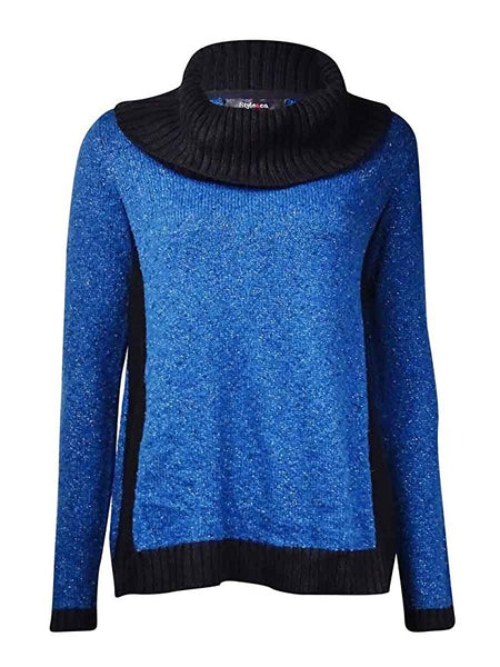Style & Co. Women's Metallic Cowl Neck Knit Sweater Size XLarge