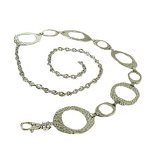 Style & Co. Women's Oval Hammered Chain Belt Nickel