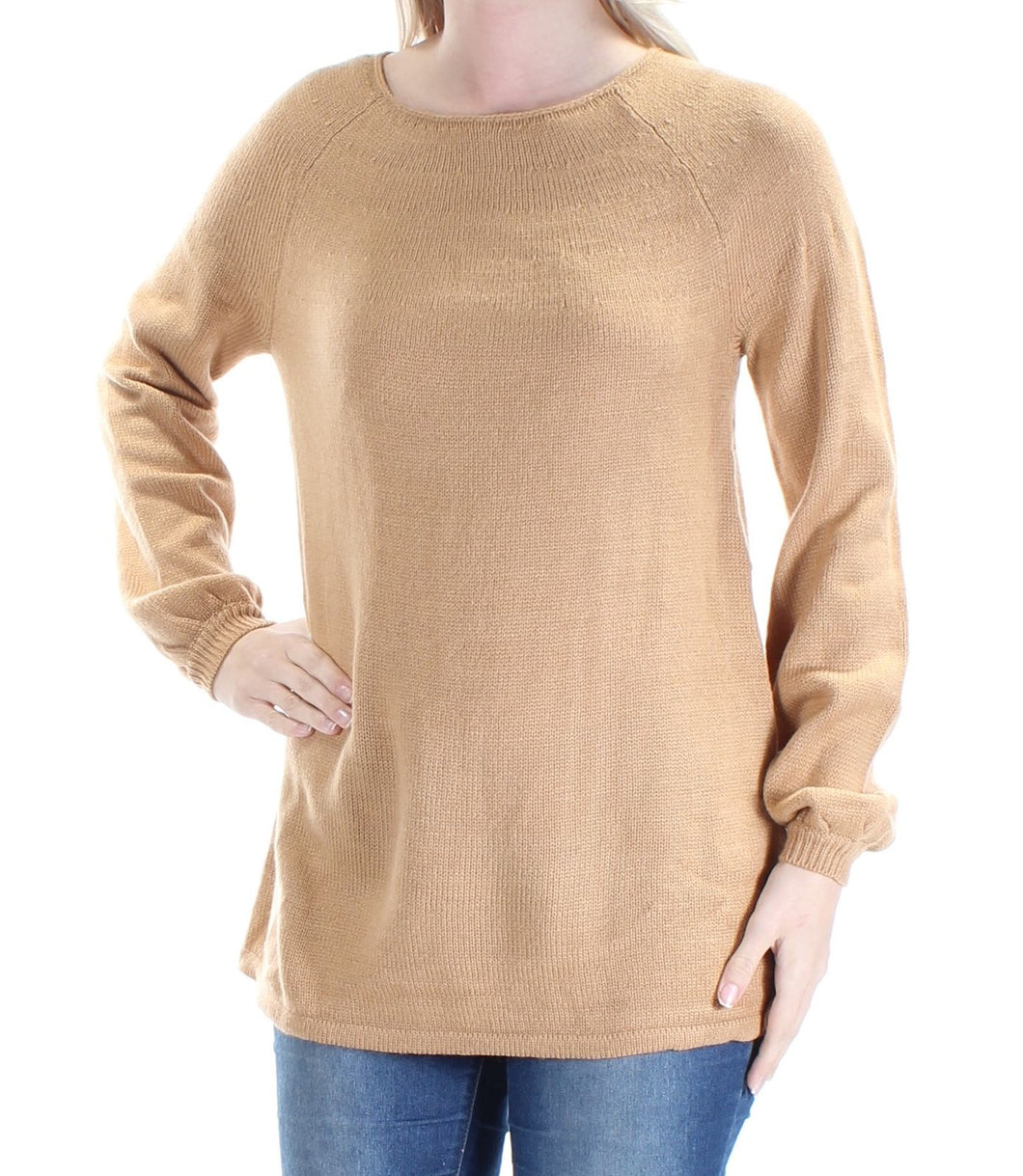 Style & Co Petite Boat-Neck Swing Sweater PS
