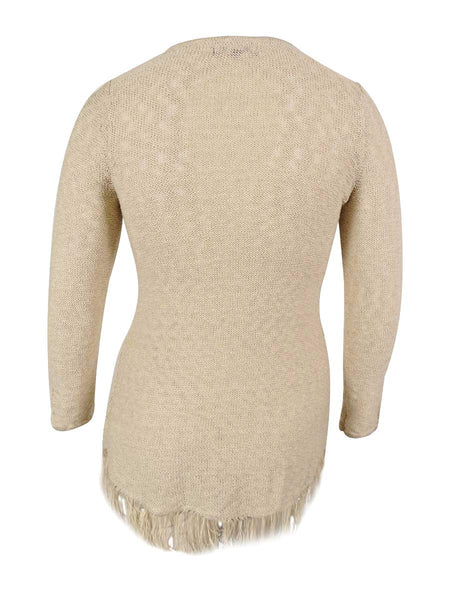 Style & Co. Women's Sheer Crochet Tunic Sweater XXLarge
