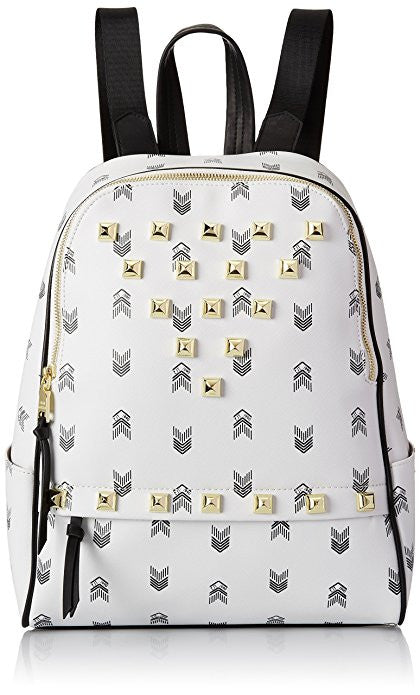 Steve Madden White Bscuti Studded Print Backpack