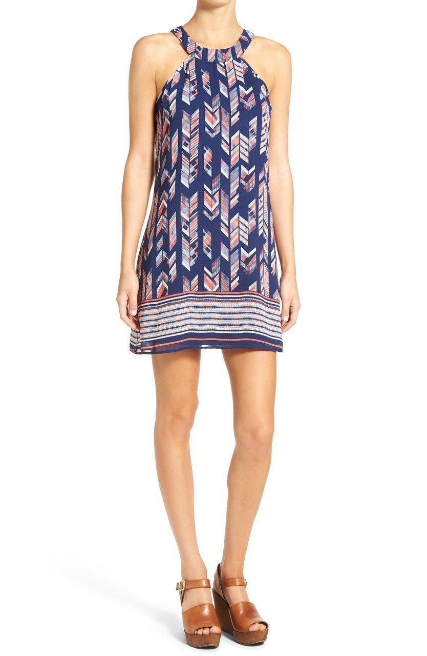 Speechless Juniors Printed Halter Shift Dress Size Small