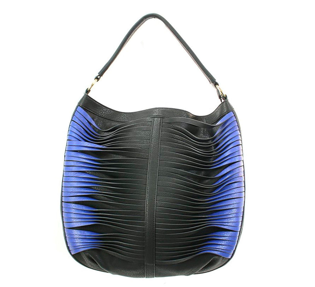 Sondra Roberts Fan Hobo Black/Blue