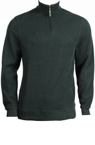 Tasso Elba Quarter-Zip Mock Neck French Ribbed Pullover Large