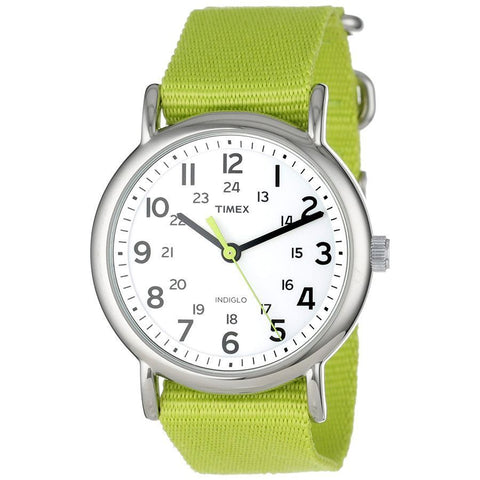 Timex Weekender Green Nylon Unisex Watch T2P145