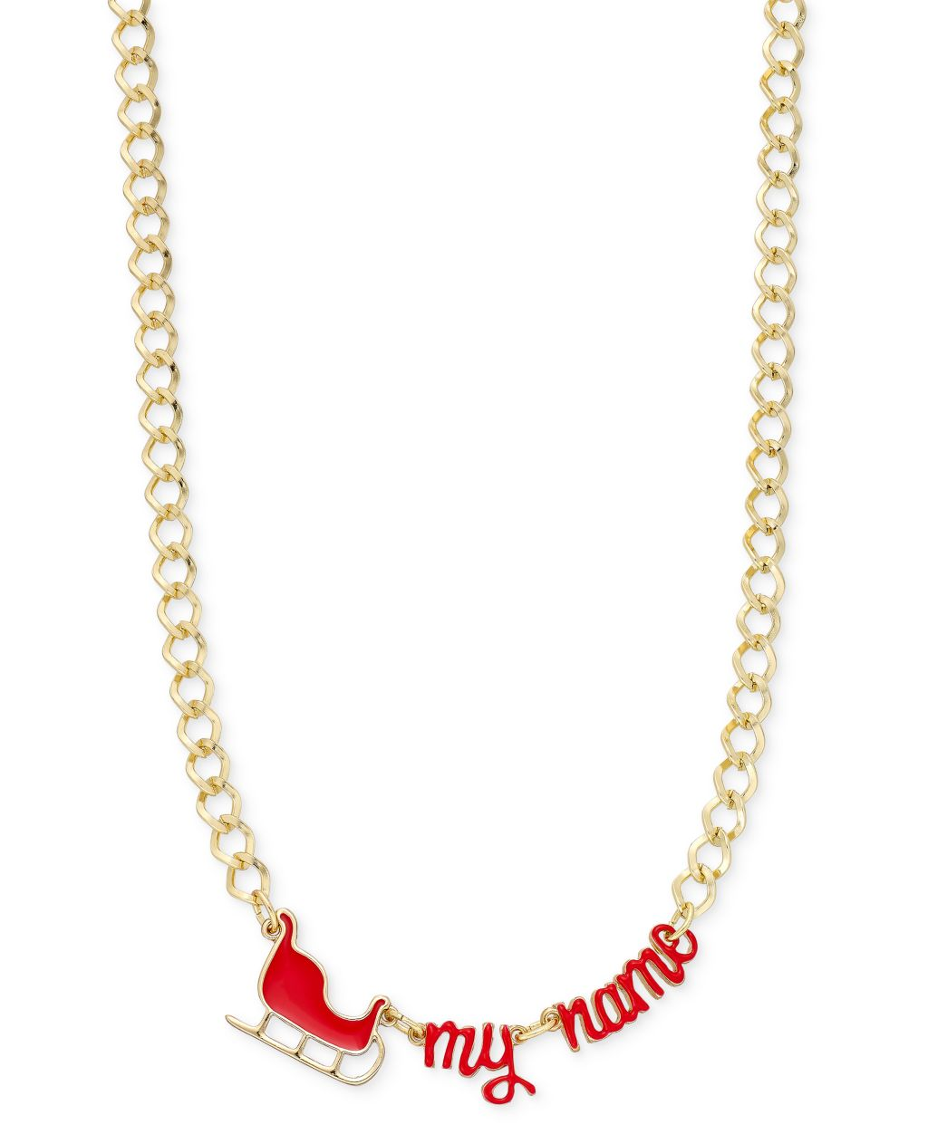 Celebrate Shop Sleigh My Name Necklace