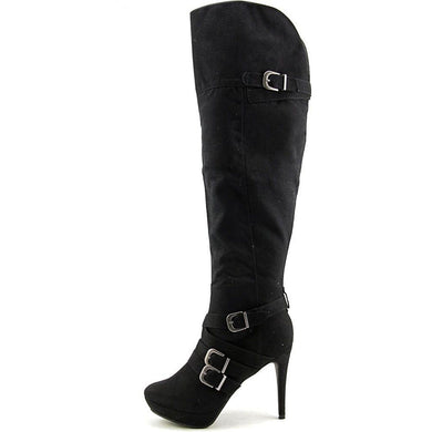 XOXO Nicki Women Black Knee High Boot 5.5M