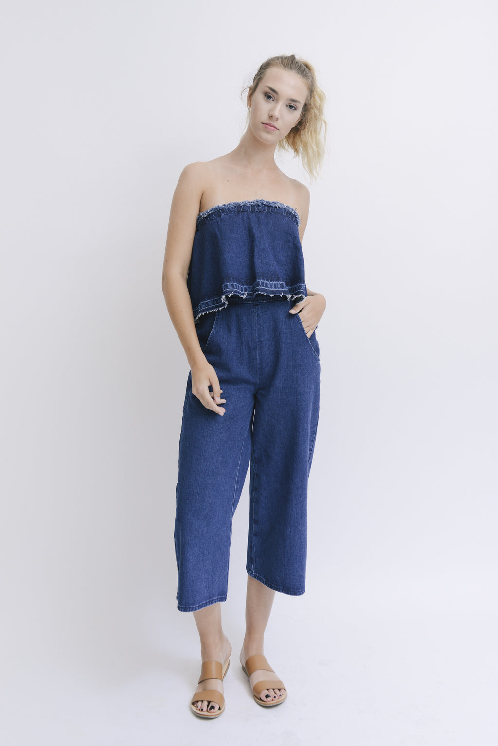 J.O.A. | Denim Jumpsuit