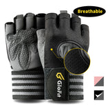 GloFit Professional Padded Weight Lifting Gloves Female & Male, Gym Workout Gloves for Men & Women with Wrist Support, Full Palm Protection for Fitness Exercise, Powerlifting, Hanging, Crossfit