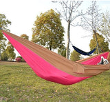 Kansoon Double Parachute Camping Hammock (Pink/Yellow)