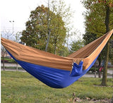 Kansoon Double Parachute Camping Hammock (Blue/Yellow)
