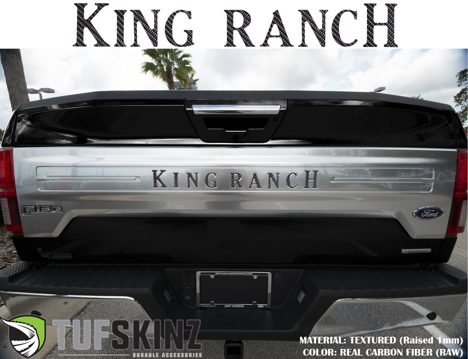 """KING RANCH"" Tailgate Letter Inserts Fits 2018-2020 Ford F-150"