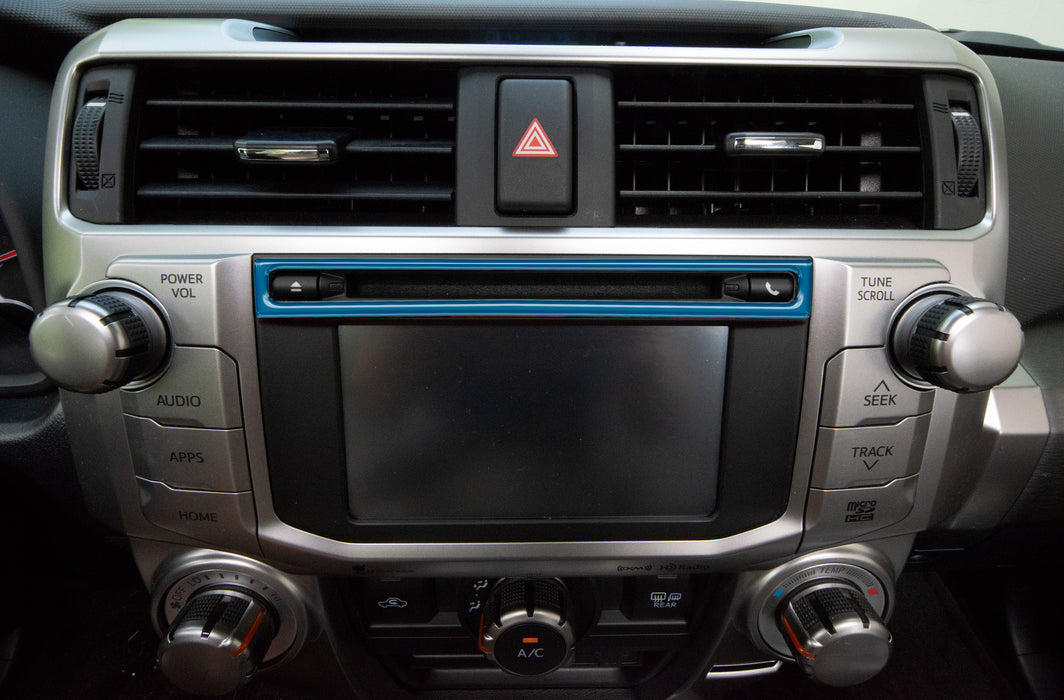 Upper Radio Display Accent Trim Fits 2014-2021 Toyota 4Runner