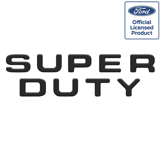 """SUPERDUTY"" Tailgate Letter Inserts Fits 2008-2016 Ford Super Duty Matte Black"