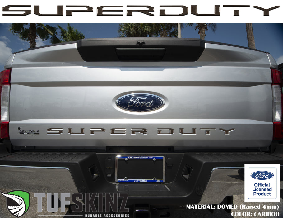 """SUPER DUTY"" Tailgate Letter Inserts Fits 2017-2019 Ford Super Duty Caribou"