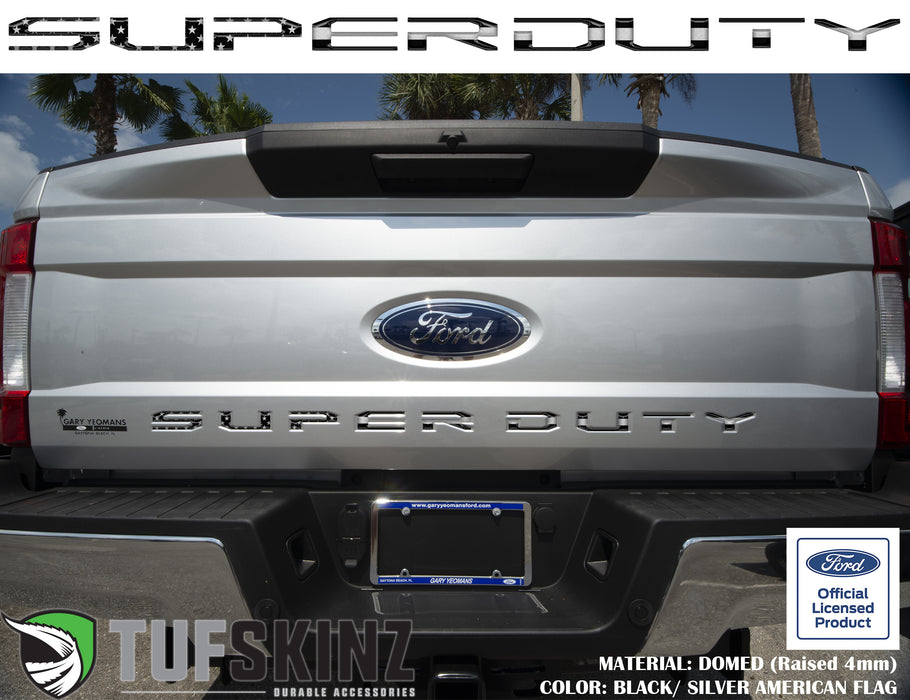 """SUPER DUTY"" Tailgate Letter Inserts Fits 2017-2019 Ford Super Duty"