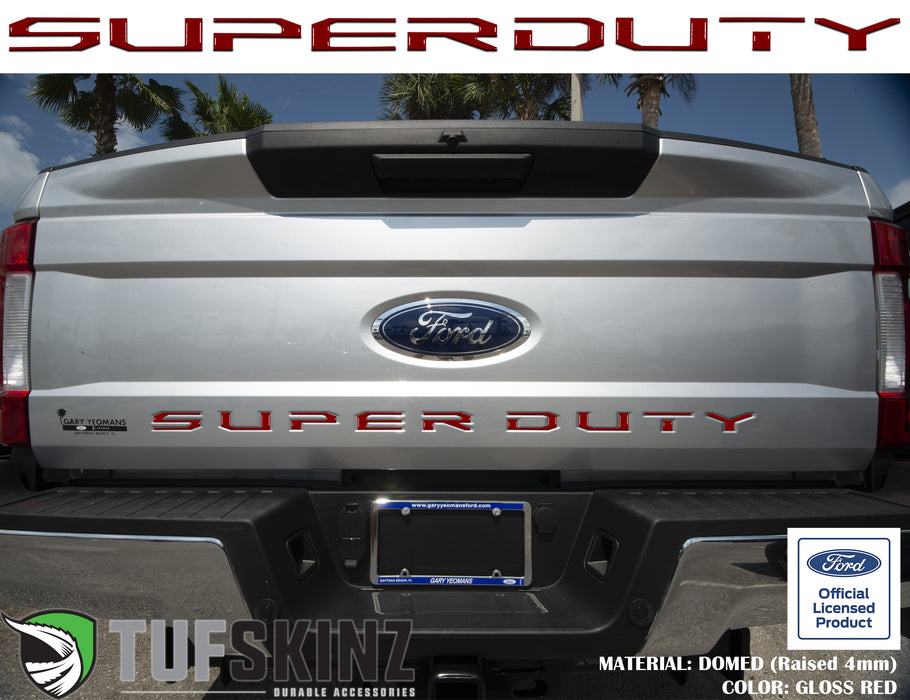 """SUPER DUTY"" Tailgate Letter Inserts Fits 2017-2019 Ford Super Duty *OE Color - Gloss TRD Red"