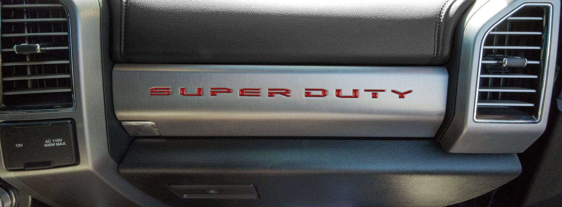 """SUPER DUTY"" Glove Box Letter Inserts Fits 2017-2021 Ford Super Duty"