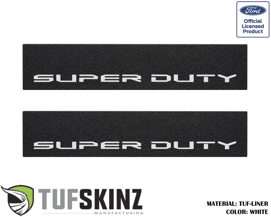 TUF-LINER Door Protection(Front Doors) Accent Trim Fits 2017-2020 Ford Super Duty (Super Duty) White Logo