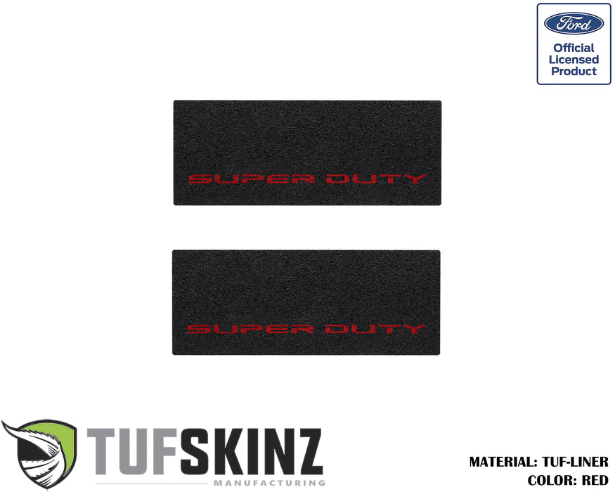 TUF-LINER Door Protection(Rear Doors) Accent Trim Fits 2017-2020 Ford Super Duty Black Textured with Red Logo