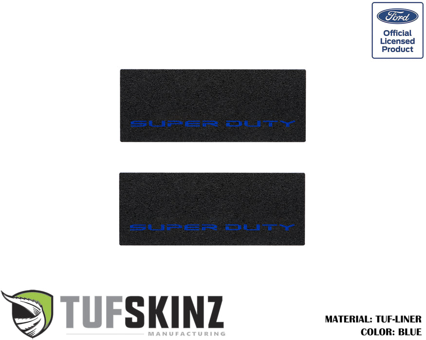 TUF-LINER Door Protection(Rear Doors) Accent Trim Fits 2017-2020 Ford Super Duty Black Textured with Blue Logo