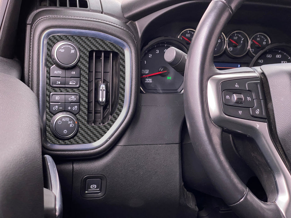 AC Vent and Headlight Control Accent Trim Fits 2019-2021 Chevrolet Silverado