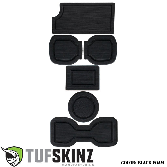 FOAM Cup Holder Inserts(Include QI Insert/Automatic) Inserts Fits 2016-2020 Toyota Tacoma Black/Black