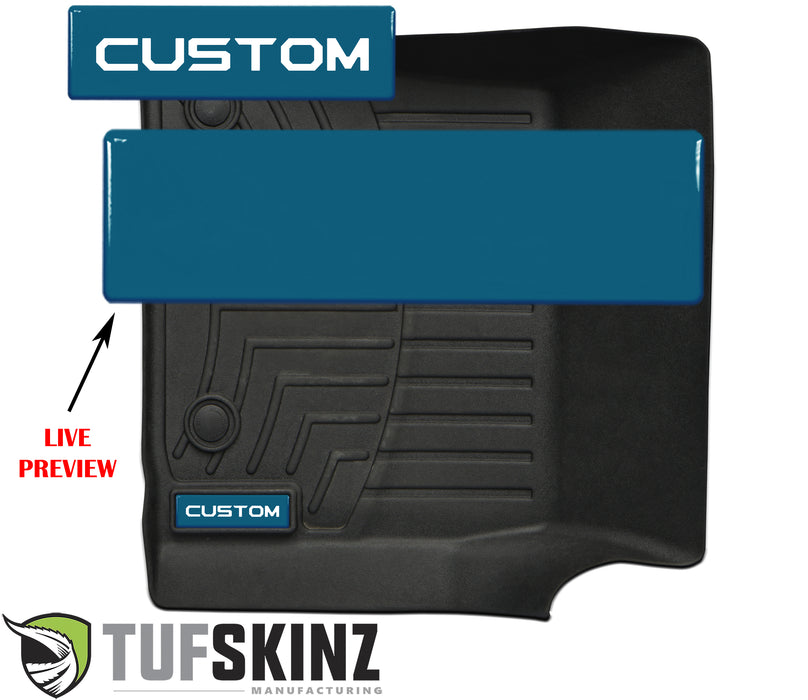 (2)Badge/Emblem Inserts Fits - WeatherTech Floor Mats *OE Color - Cavalry Blue