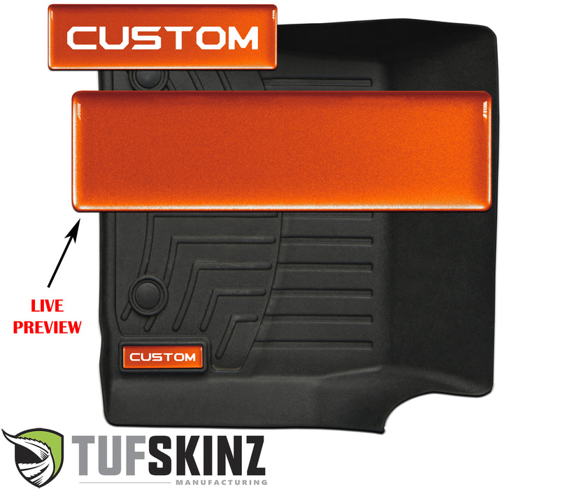 (2)Badge/Emblem Inserts Fits - WeatherTech Floor Mats Inferno (Similar to EXTERIOR Inferno Orange)