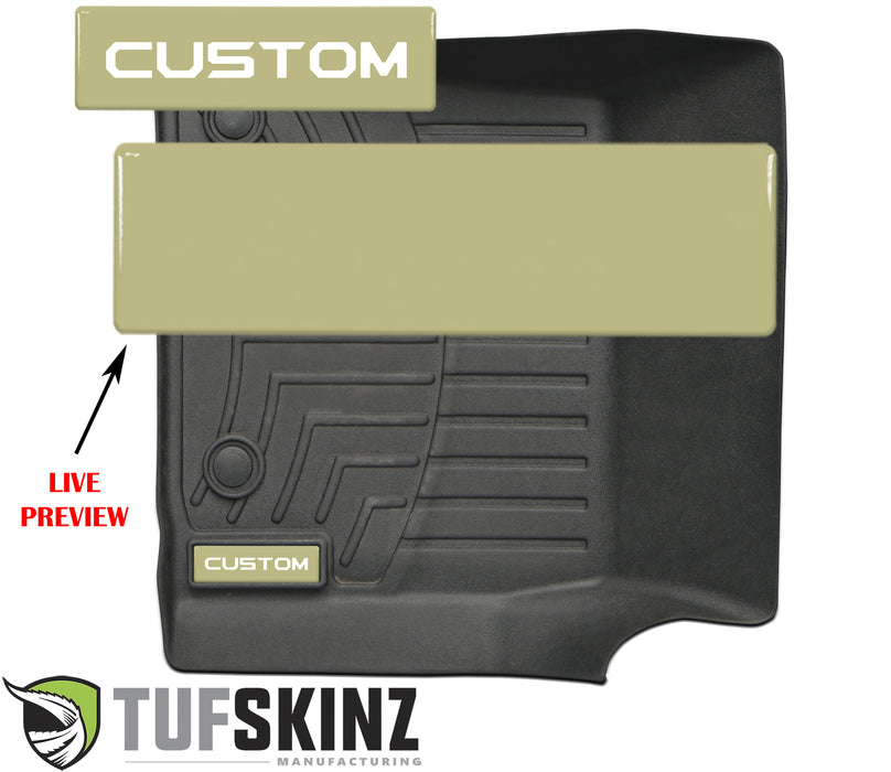 (2)Badge/Emblem Inserts Fits - WeatherTech Floor Mats *OE Color - Quicksand Tan
