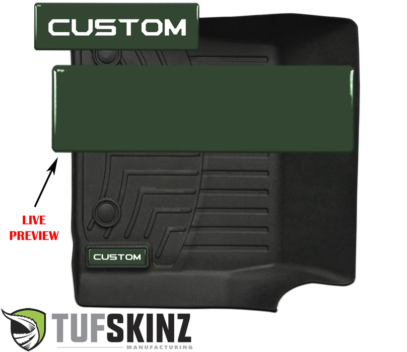 (2)Badge/Emblem Inserts Fits - WeatherTech Floor Mats *OE Color - Army Green