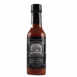 Historic Lynchburg Tennessee Whiskey Habanero Hot Sauce - Habanero and Jalapeno Peppers, Vinegar, Salt, Spices and Jack Daniel's Black Label Whiskey