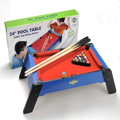 "24"" Wooden Billiards/Pool Table Game, Table Top Game Series"