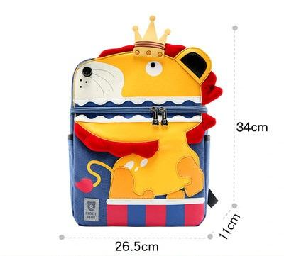 Beddy Bear Kids School Bag - Lion Design