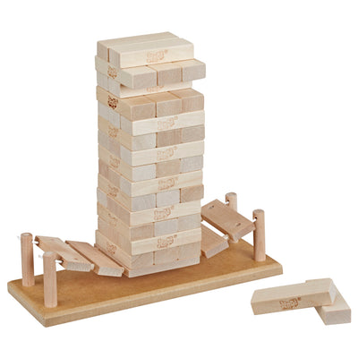 Jenga Bridge Block Stacking Game for Kids Ages 8 and Up