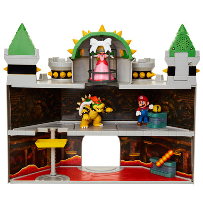 Nintendo Super Mario 19pcs.  Deluxe Bowser's Castle Playset