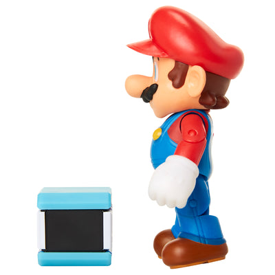 Nintendo Super Mario 4-inch Figures Wave 18: MARIO with POW BLOCK