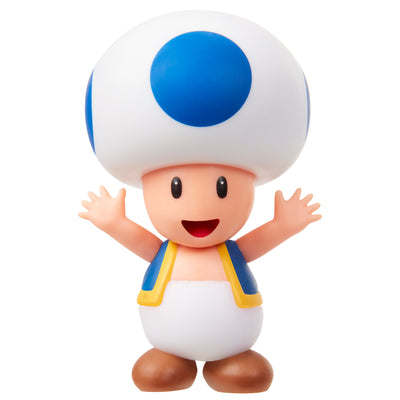 super mario blue toad action figure