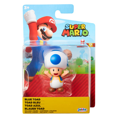Super Mario 2.5 inch Blue Toad Action Figure