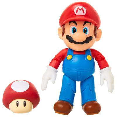 mario with super mushroom action figure