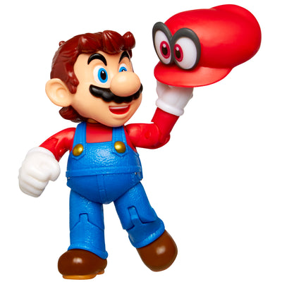 "Super Mario 4"" Mario with Cappy Action Figure"