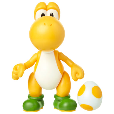 yellow yoshi with egg action figure