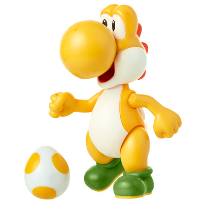 "Super Mario 4"" Yellow Yoshi Action Figure"