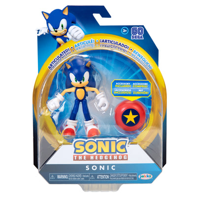 Sonic the Hedgehog 4 inch Sonic with Star Spring Action Figure