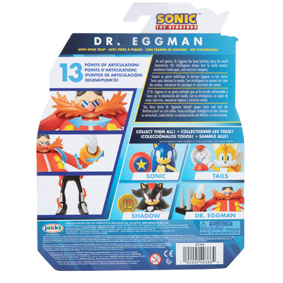 Sonic The Hedgehog 4 inch Dr. Eggman with Spike Trap Action Figure