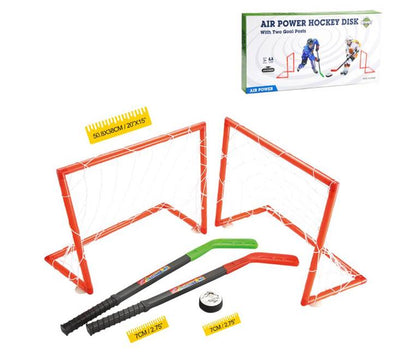 Air Power Hockey Disk Set with Two Goal Post
